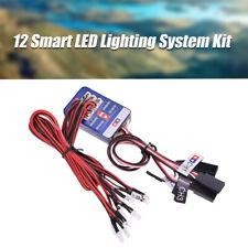 RC Lighting System 12LED Steering Brake Simulation Lights For 1/10  Drift Car