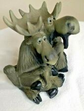 "Vintage Bearfoots Mooses Lovers Resin 6.5""  2000 Big Sky Carvers Collection"