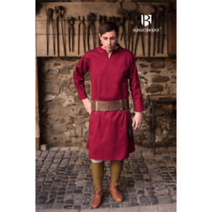 Medieval Reenactment Tunic Red Color Mast Design Historical Costume