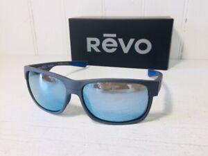 REVO RE1097 00 BL ESPEN Matte Graphite wPOLARIZED Blue Water Lens Wrap Suns $159