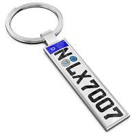Farbe:SILBER. Schlüsselanhänger KFZ Kennzeichen VW OPEL MERCEDES AUDI SKODA Auto