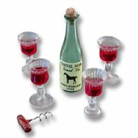 Dollhouse Miniature Victorian Wine Glass Set by Reutter Porcelain