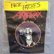 Vintage ANTHRAX 80s NOS BACK PATCH NOW IT'S DARK STATE OF EUPHORIA jacket metal