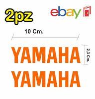 2x adesivi YAMAHA per moto e scooter - colore arancione - racing moto