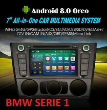 RADIO DVD BMW ANDROID 8.0 SERIE 1 E81 E82 E88  GPS WIFI OCTACORE  BLUETOOTH