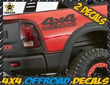 4x4 Offroad Truck Bed Decals MATTE BLACK for Dodge RAM, Dakota