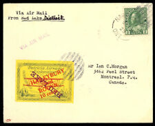 Canada CL29c Commercial Cover Red Lake to Montreal Ovpt Inverted - Stuart Katz