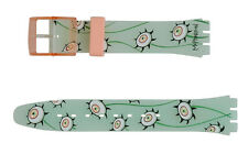 "ORIGINAL SWATCH 17mm ARMBAND ""SWATCH - THE EYES ARE WATCHING"" (AGP132) NEUWARE"