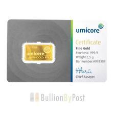 Gold Bullion Bars 2.5 g Precious Metal Content per Unit