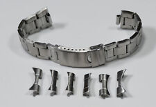 Oyster Curved Ends Satin Steel Silver 18mm - 22mm Watch Bracelet Rolex Band New