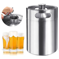 5L Stainless Steel Beer Barrel Keg Bottle Homebrew Growler Brew Portable 170 OZ