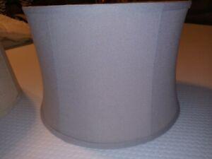 Gray Fabric Silk Lining Lamp Shade Modern  Fabric  14x16x11