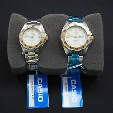 Casio PAIR Watch EFL-200SG-7AJF Rare with Date 200M Water Resistant Ununsed item