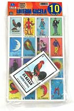 Loteria Mexicana Family Set of 10 Boards and Cards NEW Bingo Gacela El Borracho
