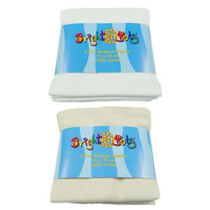 Bright Bots 6pk 100% Cotton Birdseye Flat Nappies 70x70cm
