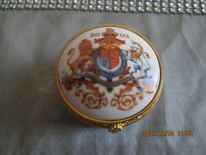 Golden Jubilee Queen Elizabeth II The Royal Collection Hinge Lidded Trinket Box