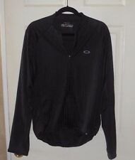 MEN'S OR WOMEN'S OAKLEY BLACK LONG SLEEVE CYCLING ZIPPER JACKET SZ L NICE!