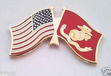 Usa / American / Us Marines Flag Military Veteran Hat Pin P62593 Ee