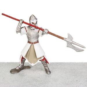"""Schleich World of Knights Red GRIFFIN KNIGHT Pole Arm 4"""" Figurine # 72038 2012"""