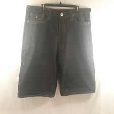 True Religion Men's W/38 Black Jean Shorts Joey