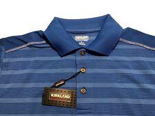 Blue Kirkland Signature Custom Fit Performance Men's Polo T Shirt Size Small