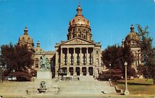 Postcard Ephemera Des Moines IA Iowa State Capital Dedicated 1881 Golden Dome US