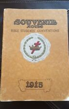Jehovah Watchtower Souvenir Convention Report. RARE 1915. Pastor Russell IBSA