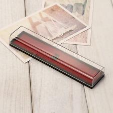 NEU Federmappe  Mäppchen Etui Feder Beutel Box Geschenk transparente Kunststoff