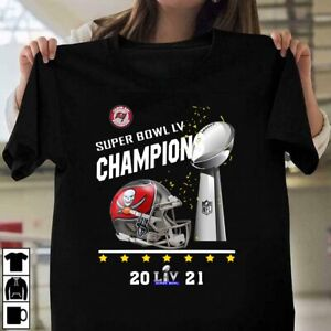 HOT Tampa Bay Buccaneers Super Bowl LV 55 Champions 2021 T-Shirt Size S-3XL