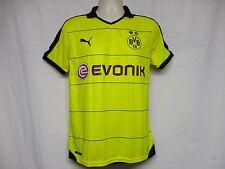 Men's Puma Bvb 09 Reus Home Soccer Jersey, Yellow Black Sport Futbol Shirt M Z4