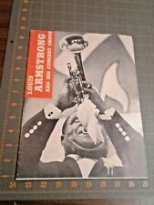 Louis Armstrong And His Concert Group Program 1950 Era Initials L A