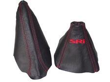 """Gear & Handbrake Boot For Holden Astra H MK5 2004-09 Leather """"SRi"""" Red Logo"""