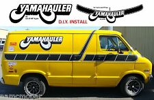 YAMAHAULER 4 side decal kit, RETRO Strobe Stripes, 1970's SHORTY VAN DIY install
