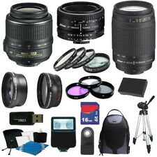 Deluxe Kit for Nikon D3000 & D5000 w/ 18-55 VR & 70-300 G & 50 1.8D Lens