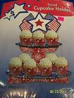 Red White Blue Patriotic USA Party Tier Cupcake Holder