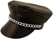 PVC Leather LOOK YMCA Gay Disco American Biker Hat Cap Fancy Dress 70s 1980s