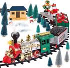 JOYIN Christmas Train Set, Electric Train Toy with Real Smoke, Music & Lights, C