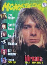 MONSTER 1995 Nirvana Guns N'Roses Bon Jovi Iron Maiden Metallica Ozzy Osbourne