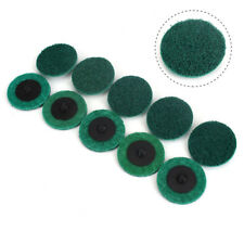 50Pcs 2 inch Roloc Surface Polishing Sanding Discs Green Quick Change Prep Pads