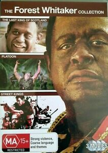 The Forest Whitaker Collection DVD - Last King Of Scotland+Platoon+Street Kings