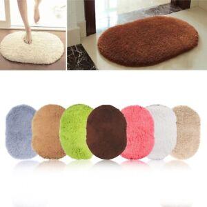 Non-Slip Bath Mat Absorbent Shower Bathroom Carpet Soft Toilet Covers Floor Rug
