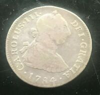 1784 Peru 2 Reales - Scarce Silver
