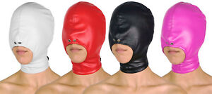 Maske mit offenem Mund Leder Maske Ledermaske BDSM schwarz pink weiß rot braun