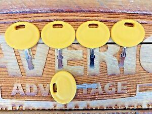 5 keys fit MTD Mower Ignition - Cub Cadet Part 625-05000