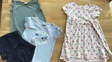 Next Girls Summer Bundle Age 4-5 Green Top Blue Shorts Floral Pink Dress
