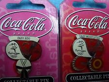 "Coca Cola ""Enjoy Judo & Weightlifting"" Pins Sydney 2000 Olympic Games"