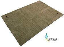 Handloom Gabbeh 170x240 cm Grau Handgewebt Teppich 100% Wolle