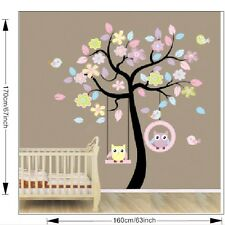 170cm*160cm Owl Swing Tree Removable Wall Sticker Decal Mural Home Decor