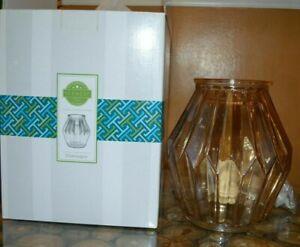 SCENTSY Full Size Glass Warmer ~ CHAMPAGNE ~ Elegant ~ NEW In Box Beautiful!