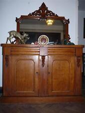 Fantastic Antique Victorian (c1870)  Mirror Backed Sideboard/Credenza Flame Oak.